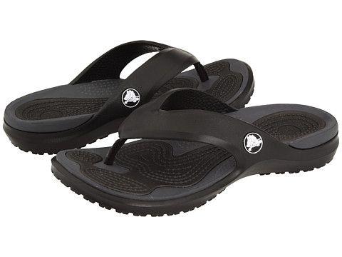 Crocs MODI Flip Black Graphite - 6pm.com  7f6d8a9b5