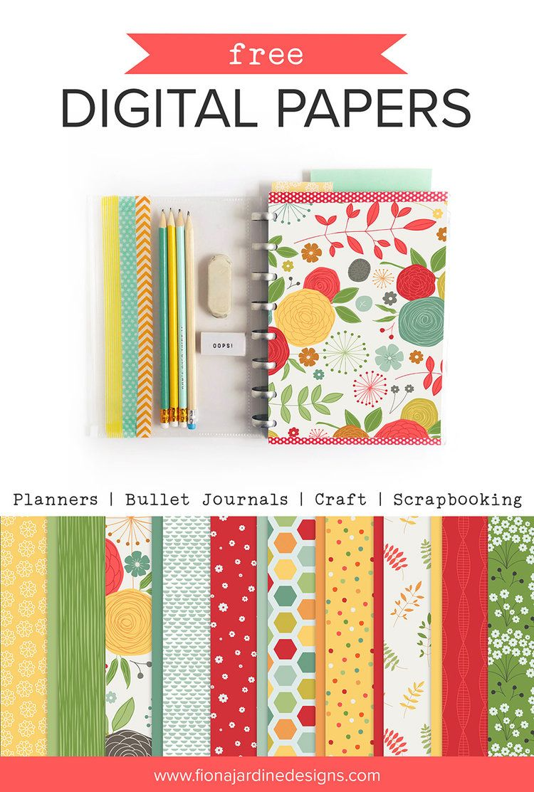 Free Printable Papers For Planners Craft And Scrapbooking Digital