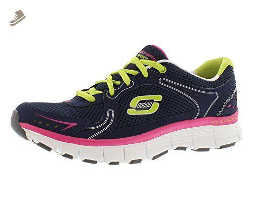 Skechers Women's Flex Fit Fly,Navy/Green,US 6.5 M - Skechers sneakers