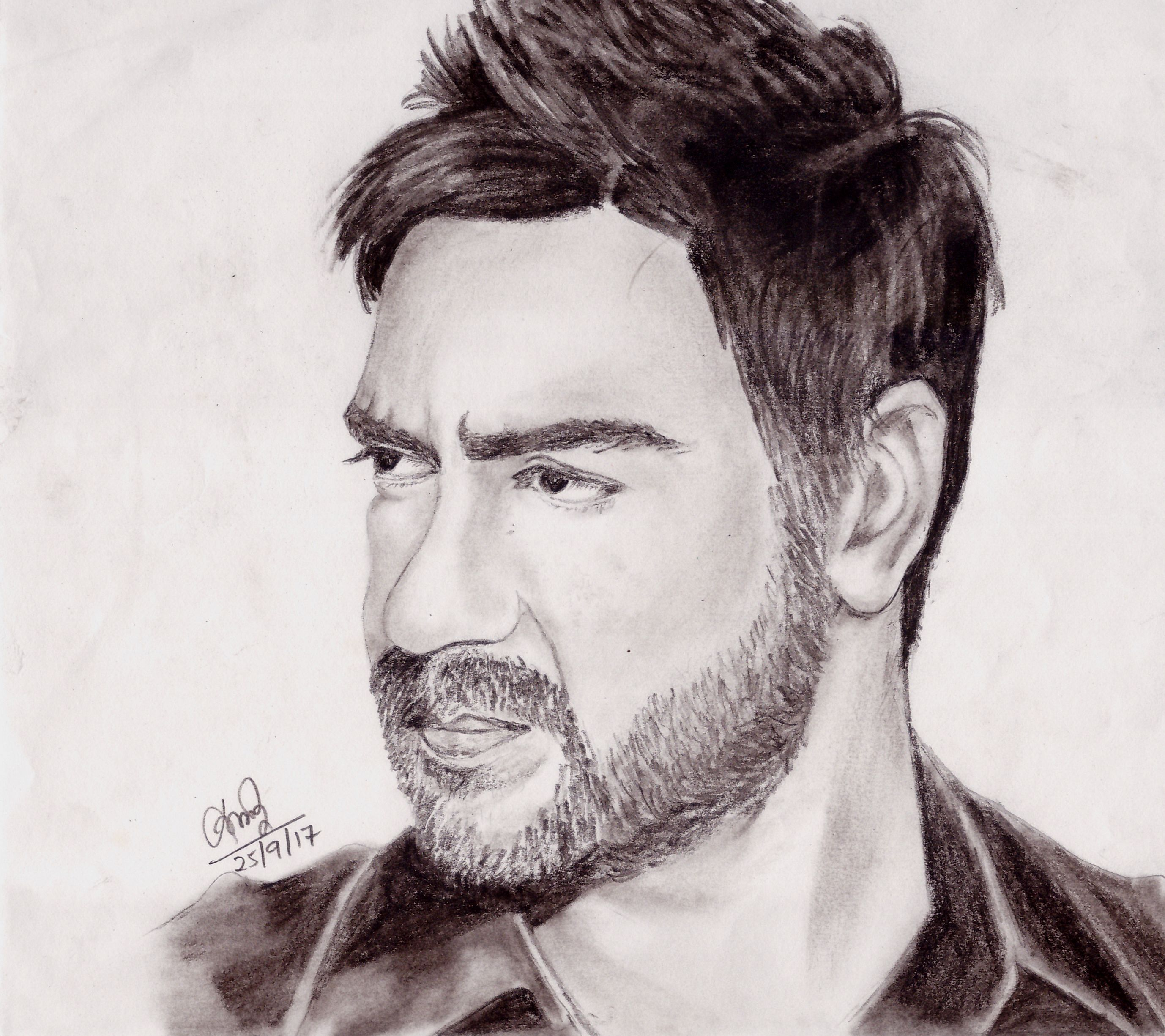 Ajay Devgn Sketch Cool Pencil Drawings Sketches Face Art