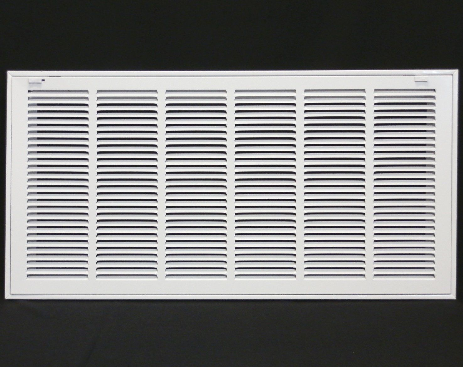 Metal Fab Mfrfg3012w 30 X 12 Steel Return Air Filter Grille For 1 Filter Hvac Duct Cover Flat Stamped Face White Outer Dimensi Filters Hvac Duct Grilles
