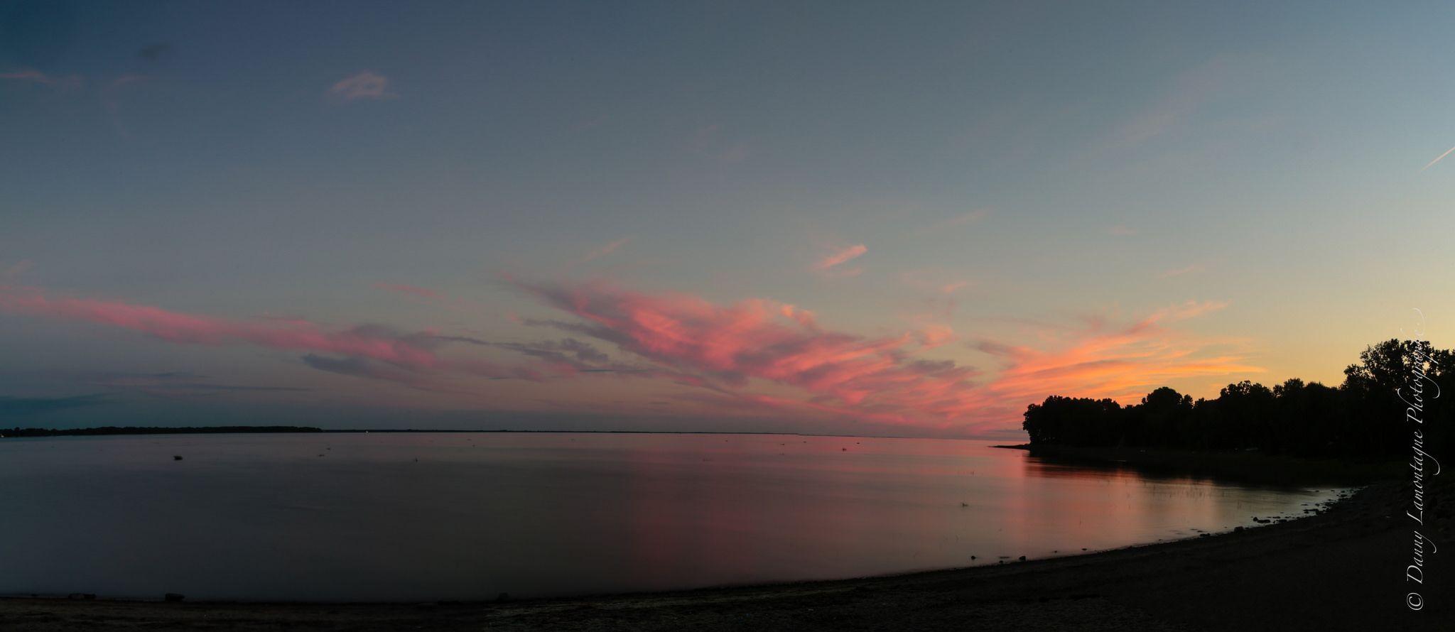 https://flic.kr/p/wQLRxa | coucher soleil à Pointe-du-Lac, Québec