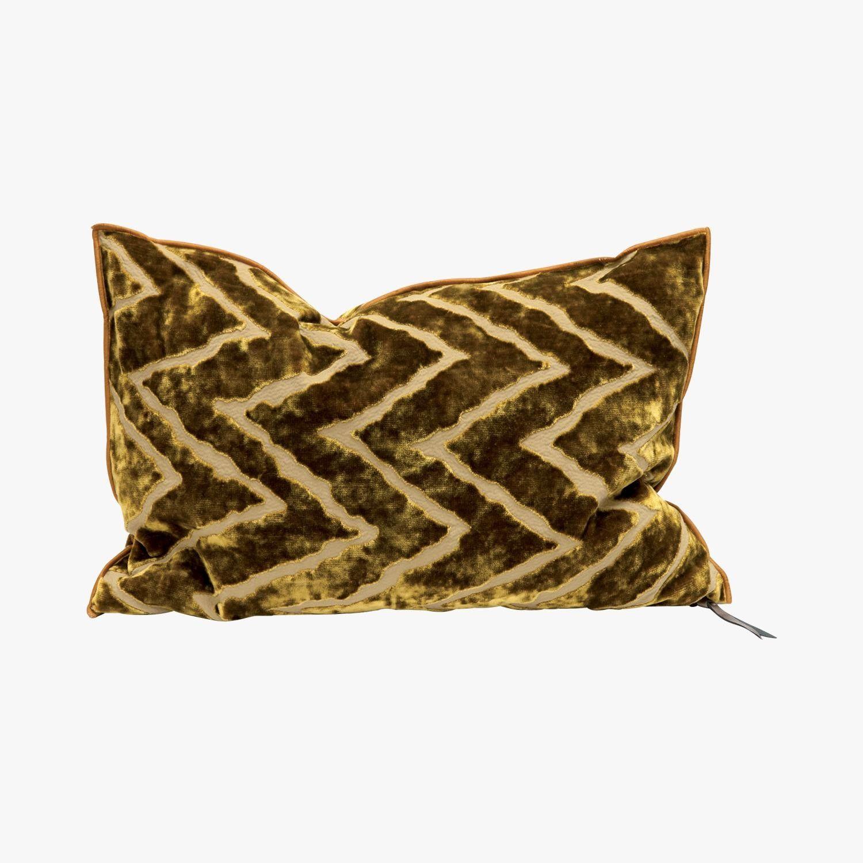 Coussin Vice Versa Cushion, Ocre - @nickname77  #LeBonMarche #tendance #trend #winter #gypset #hiver #cozy #decoration #decorations #home #house #maison #interior #interieur #inspiration #design #coussin