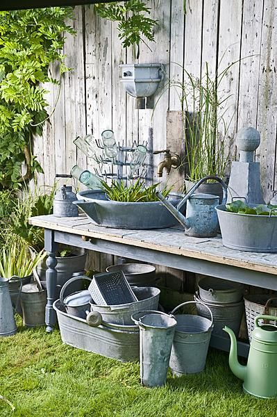 """I really need to gather all my garden """"stuff"""" and make this happen on my potting bench."""