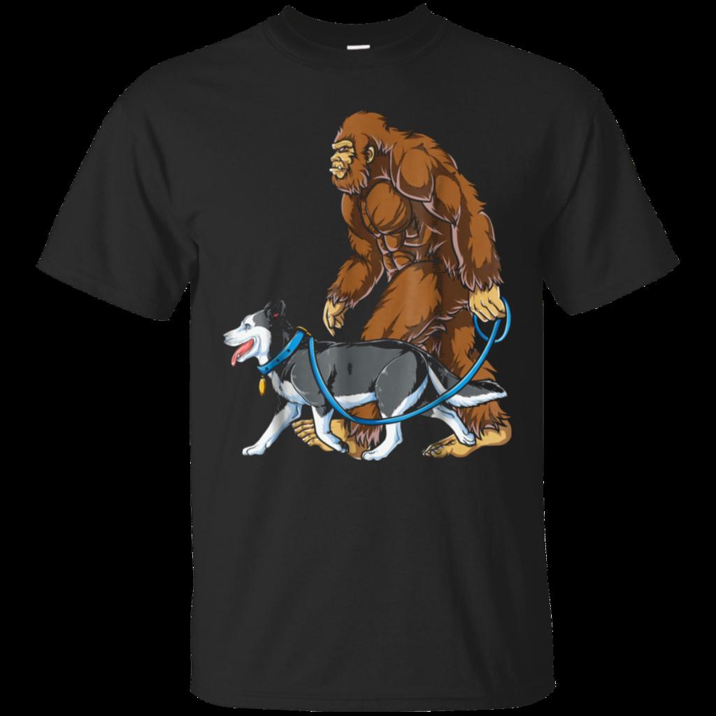 630a656d Bigfoot Dog Walk Siberian Husky T shirt Sasquatch Kids Men | Animal ...
