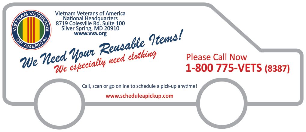 Vietnam Vets Donations Schedule A Pick Up We Need Your Discards Donate To Charity Donation Sites Donate Furniture