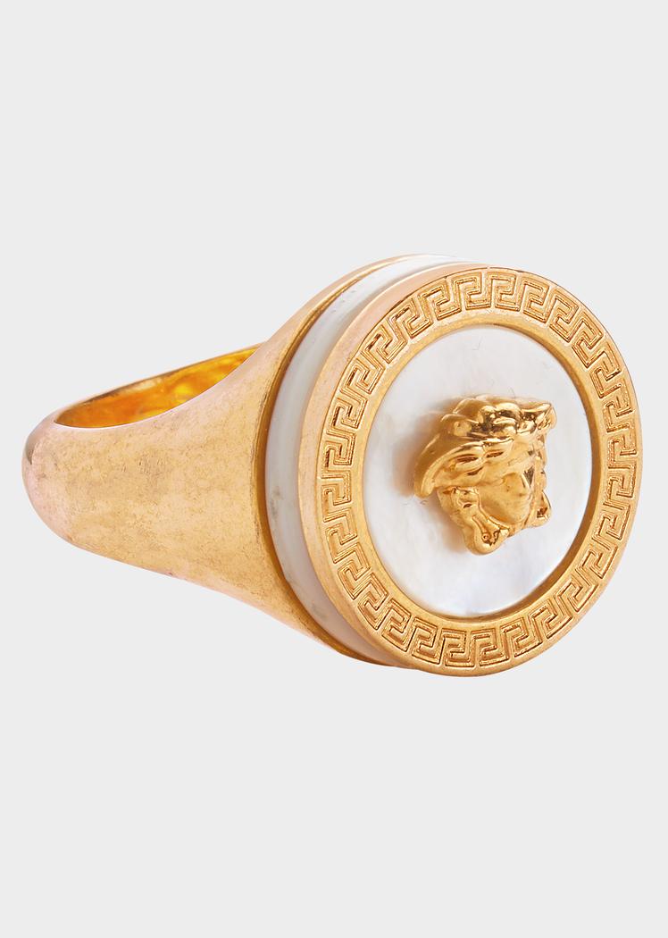 f8262fbf4850 Versace Mother of Pearl Medusa Ring for Women   Official Website   ringsforwomen. Visit. October 2018