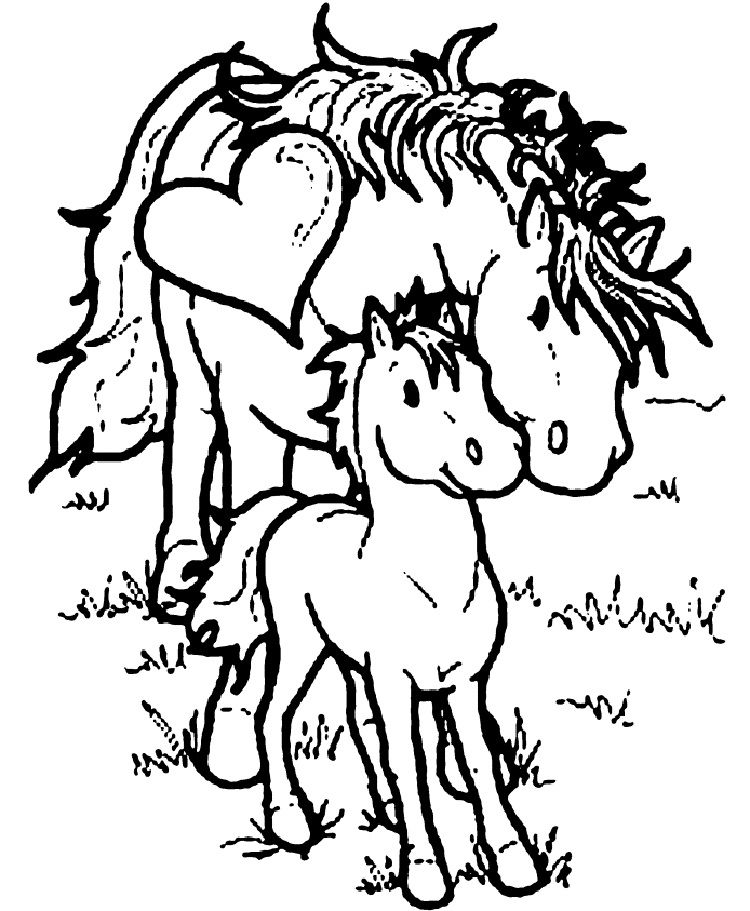 Mom And Baby Horse Coloring Pages Horse Coloring Pages Horse Coloring Books Horse Coloring