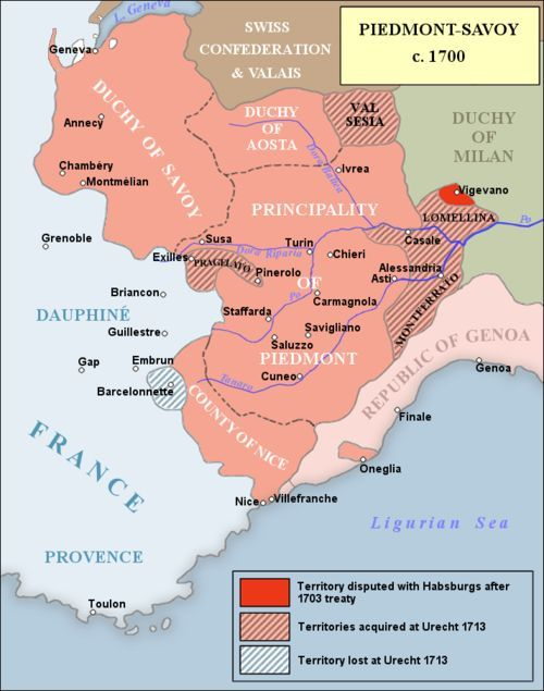 War Of The Spanish Succession Wikiwand Carte Geographique France Carte Italie Savoie