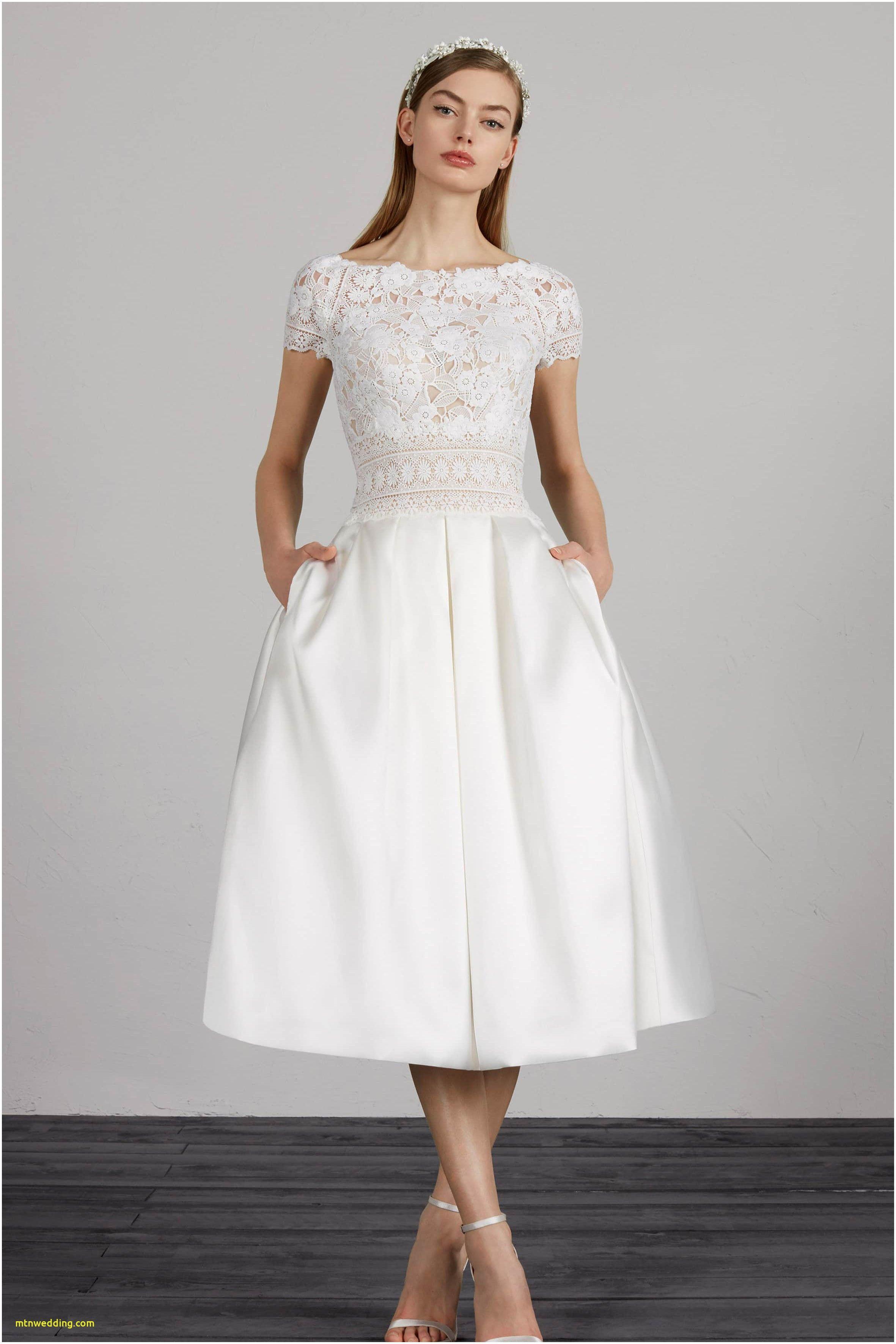 Unique 3 4 Sleeve Knee Length Wedding Dress