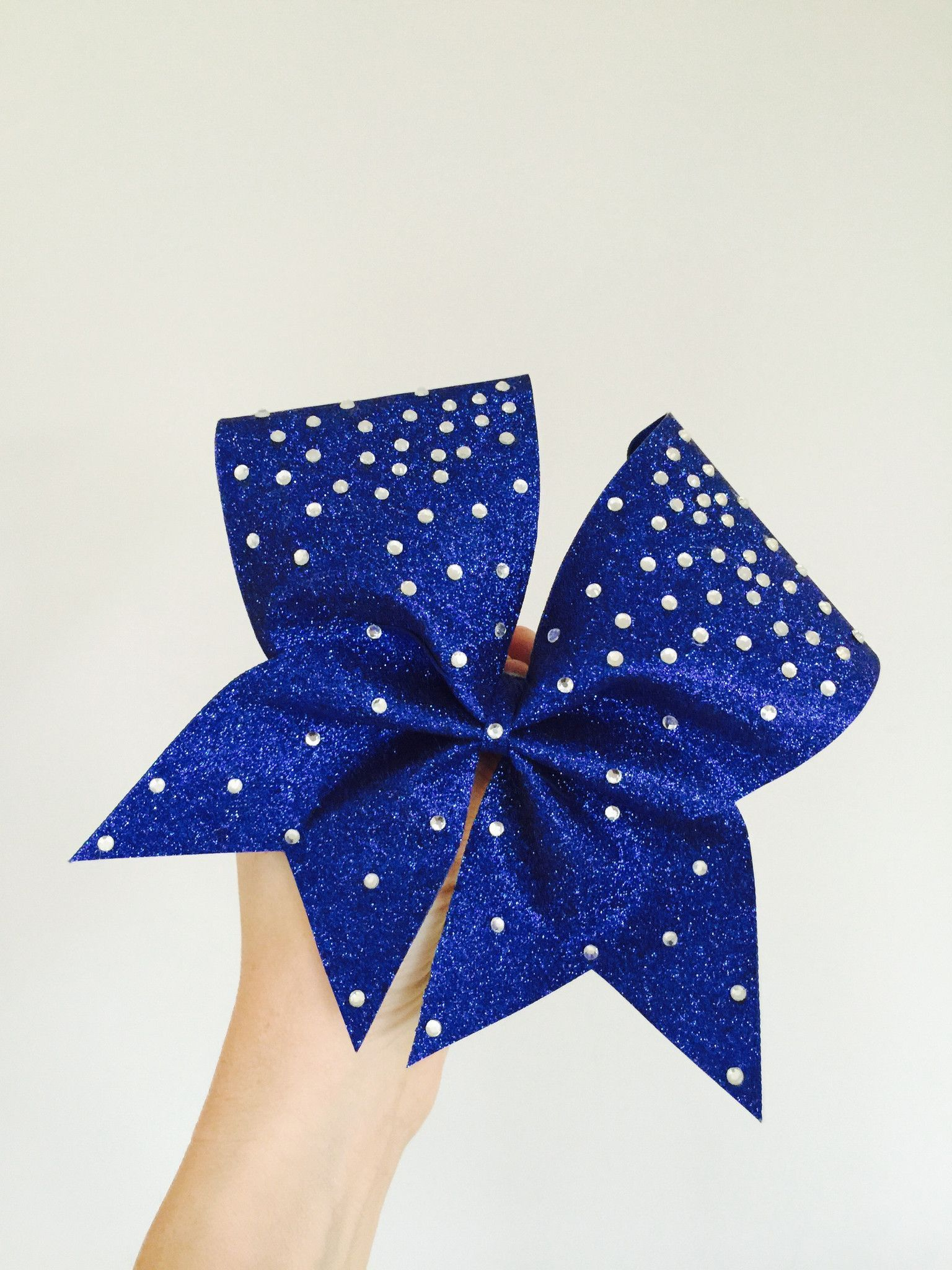 Royal Blue Total Glitter Cheer Bow embellished in ...