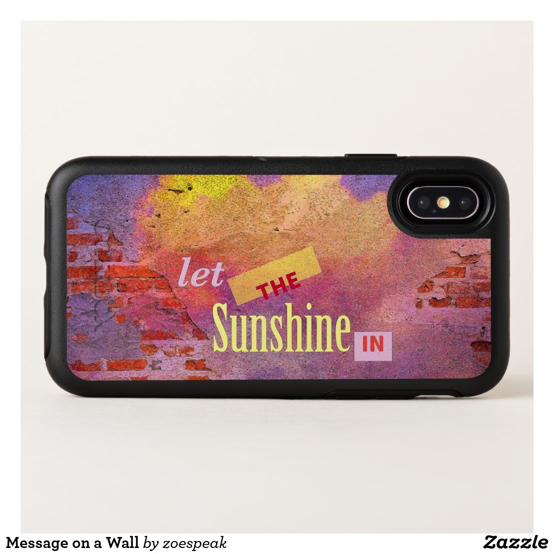 Message on a wall otterbox iphone case with