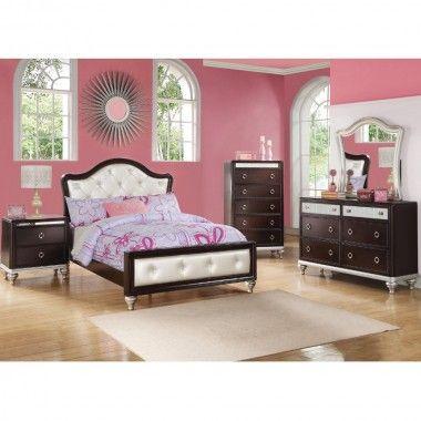 Dazzle Bedroom Bed Dresser Mirror Twin 564t64 Bedroom