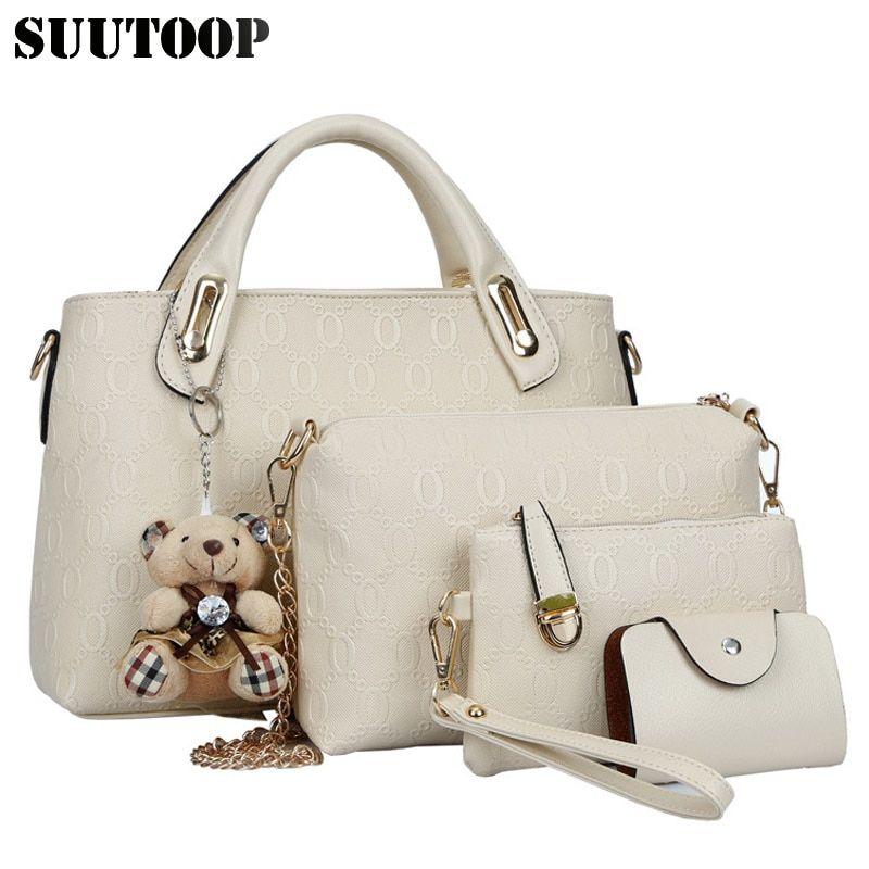 cc4452576275 Famous designer SUUTOOP luxury brands women bag set good quality medium  women handbag set new women shoulder bag 4 piece Set Price: $33.60 & FREE  Shipping ...
