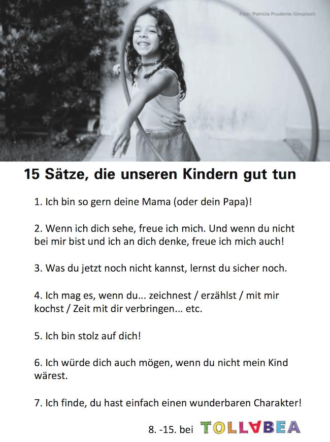 15 + 10 Sätze, die unseren Kindern gut tun – und uns auch!