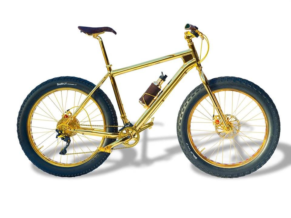 Here S The Most Expensive Bicycle In The World Made Of 24 Carat Gold Created By The House Of Solid Gold In California It Comes Dag Bisikleti Bisiklet Kunst