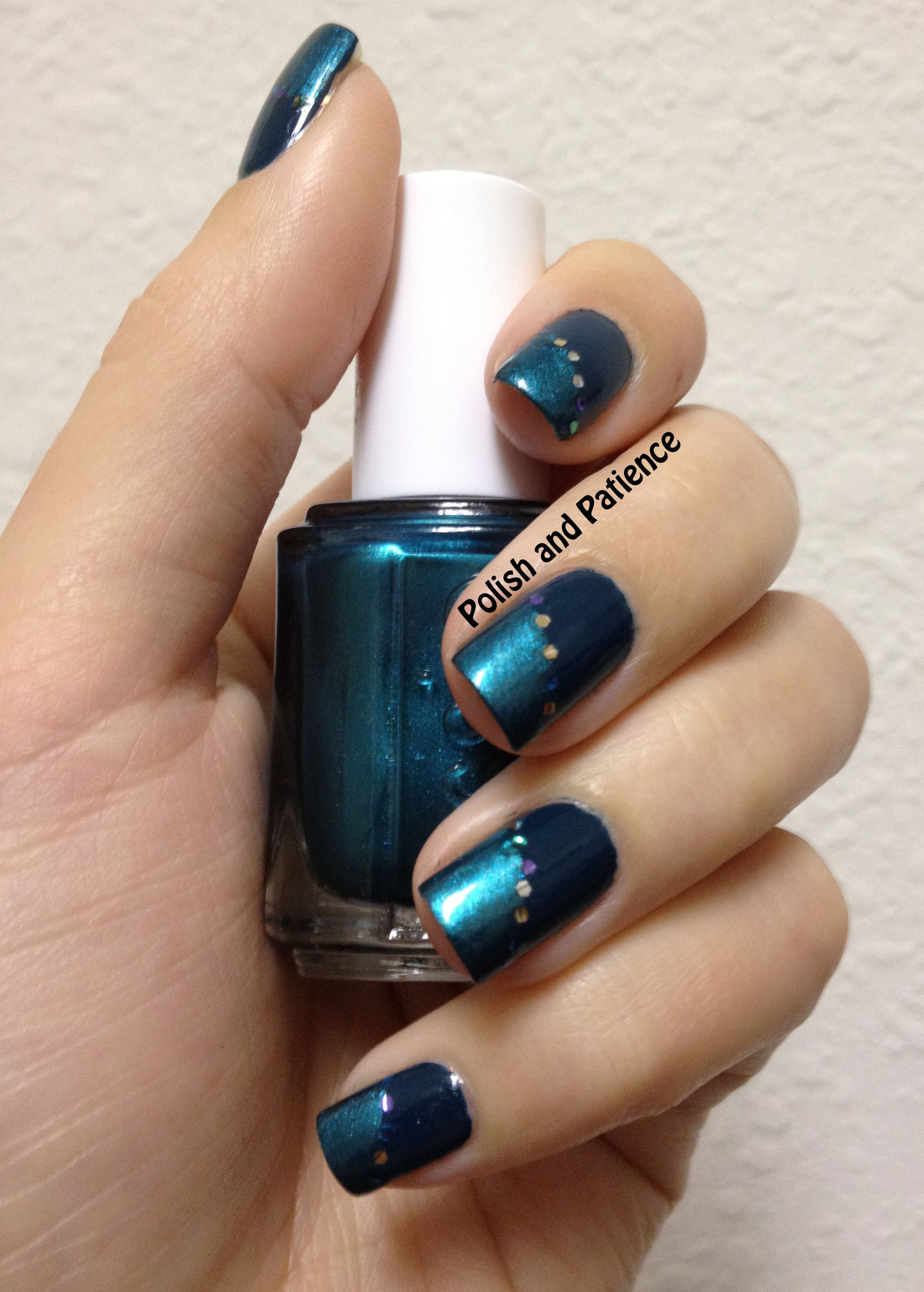 Peacock inspired nails presented by Polish and Patience - www.PolishAndPatience.com