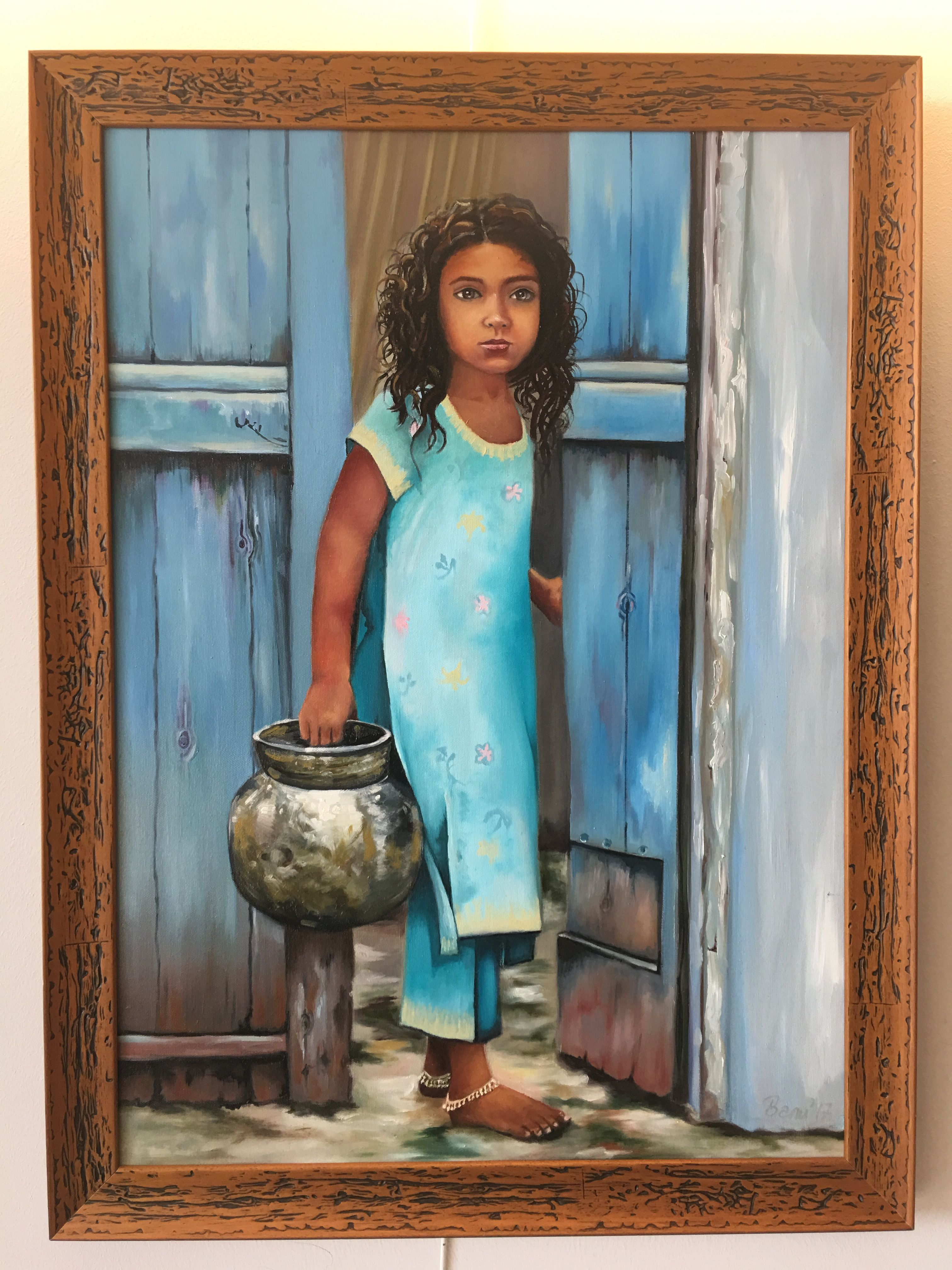 Water Indian girl / Oilpainting