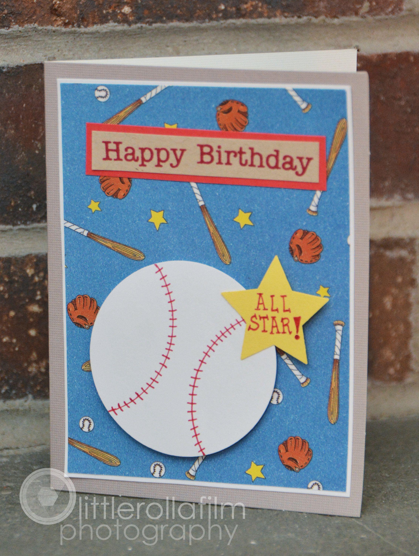 Birthday Greeting Card All Star Baseball Birthday Card