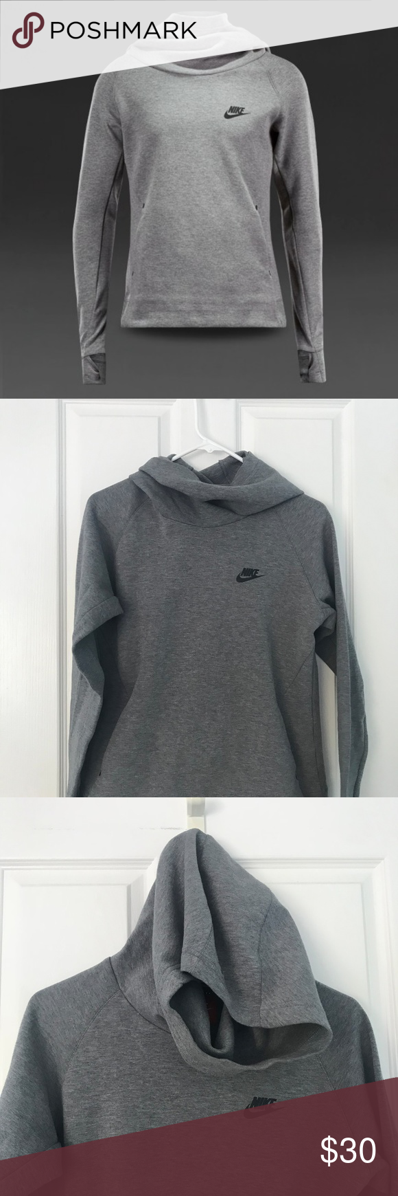 Nike Tech Fleece OverTheHead Hoodie Youth (With images