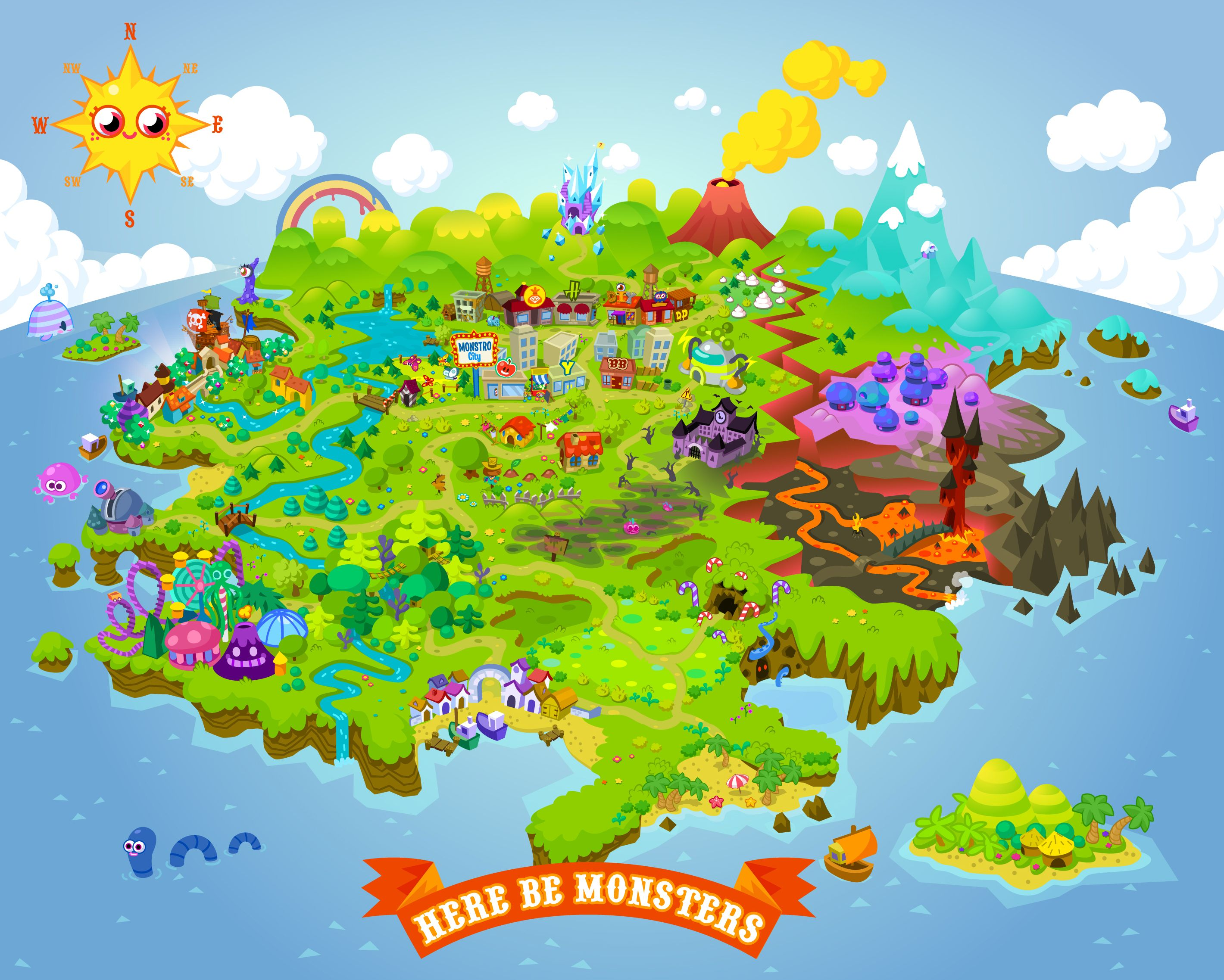Moshi Monsters Map Moshi Monsters Monster Photos Kids Party Planning