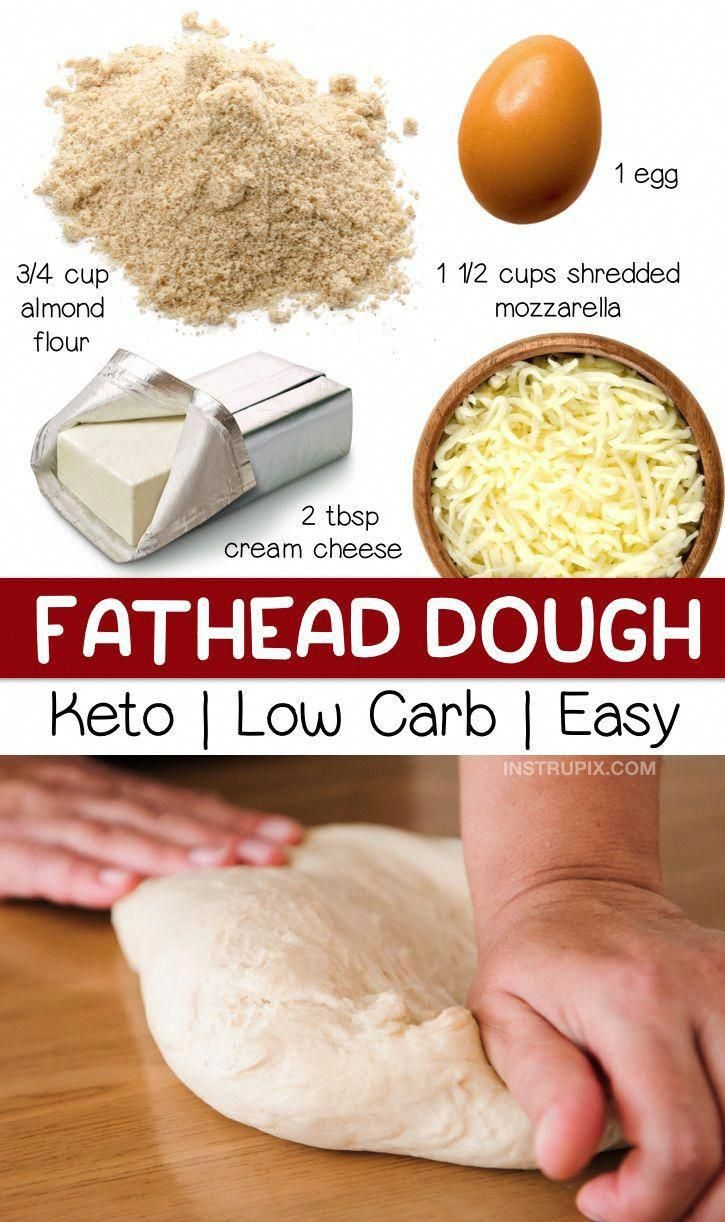 Quick & Easy Fathead Dough Recipe: Looking for easy keto recipes? This low carb pizza crust is made with just 4 simple ingredients! It's perfect for a quick and easy lunch, dinner or weeknight meal. This keto pizza dough is gluten free, keto friendly, and tastes like the real thing! Even beginners will love this recipe. It's made with just almond flour, mozzarella, cream cheese and an egg. #keto #lowcarb #pizza #instrupix #CookingRecipes