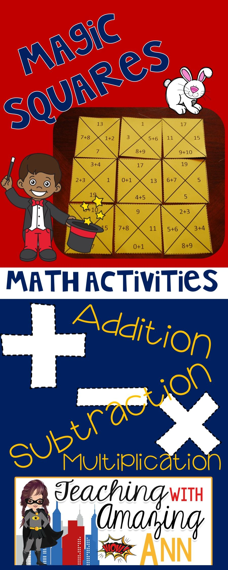 Magic Squares Math Activity from Teaching with Amazing Ann ...