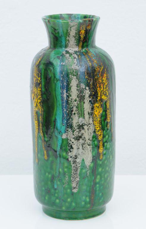Alvino Bagni Glazed Ceramic Vase For Raymor C1960 Antique