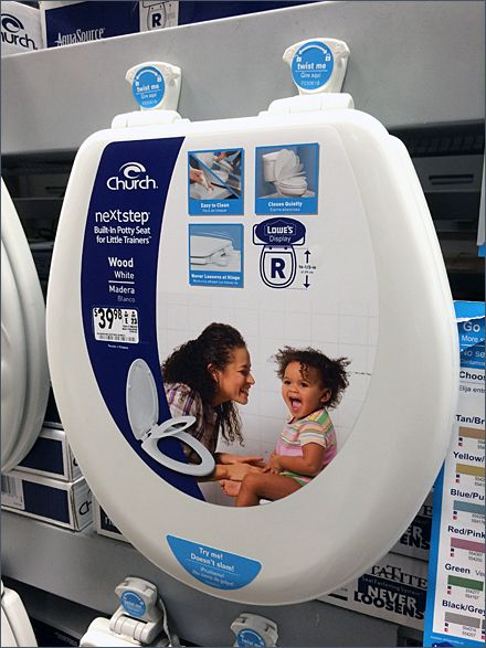 Lowes Mass Merchandising Toilet Seats On Pallet Rack With Images