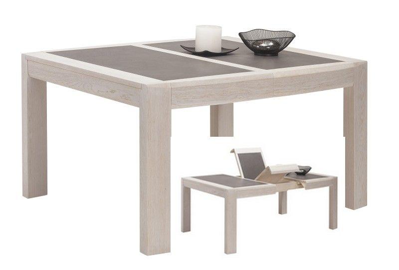 Meublea Collection Ottawa Table A Manger Avec Possibilite D Un Plateau En Ceramique Allonges En Porte Feuille Plusieurs Di Table A Manger Table Ceramique