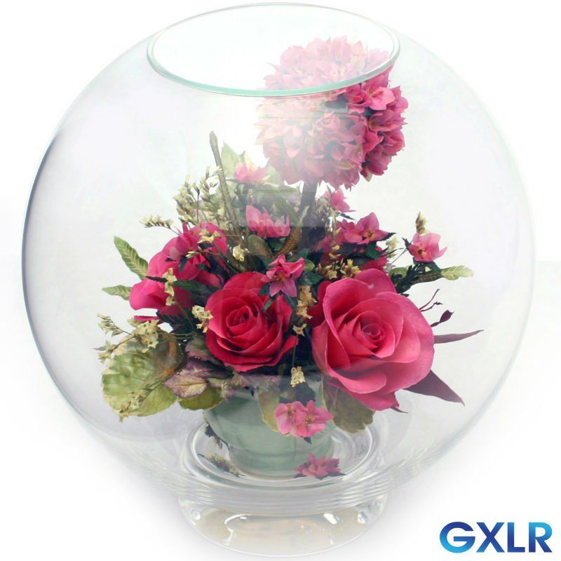 glass globe with flowers   Preserved roses in glass globe   Glass globe, Preserved roses ...