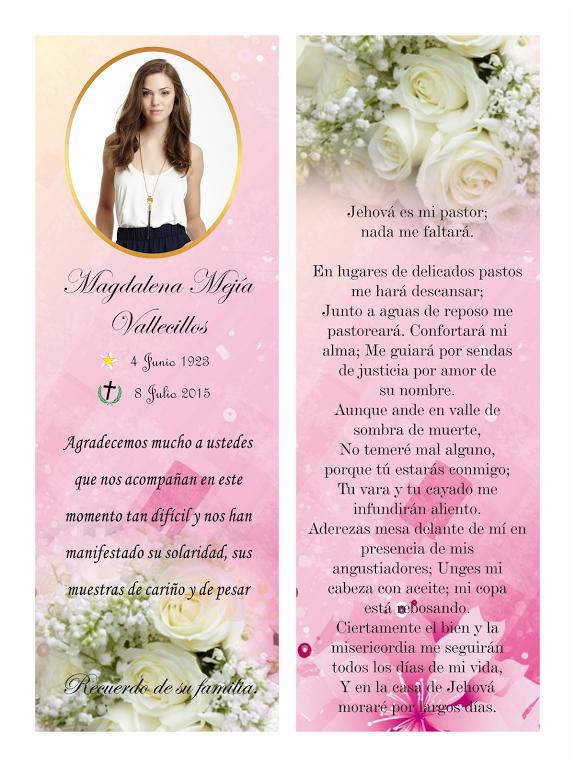 tarjetas para difuntos en su aniversario