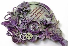 Tattered Treasures: Steampunk Mirror Tutorial for Frilly and Funkie!