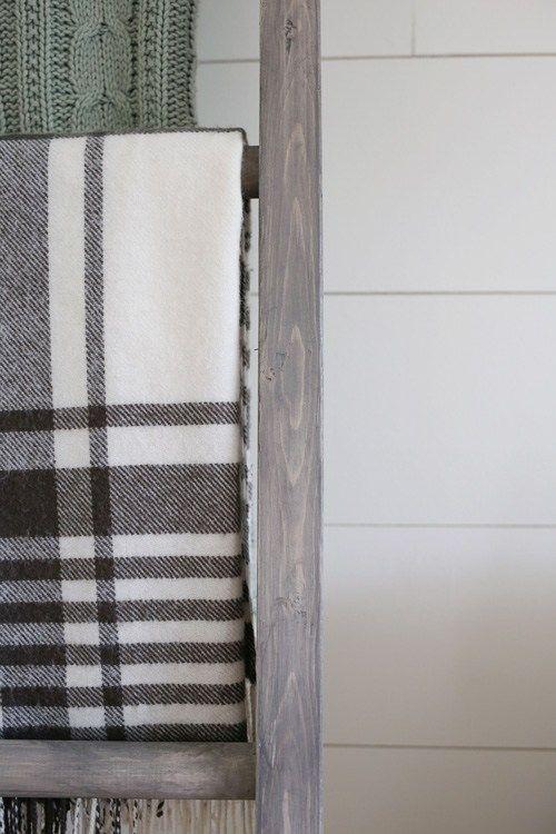 277e70b719e0 5 Grey Wood Stain Options   Bedroom   Diy blanket ladder, Blanket ...