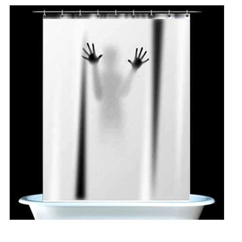 Horror Movie Shower Drapes With Images Scary Shower Curtains