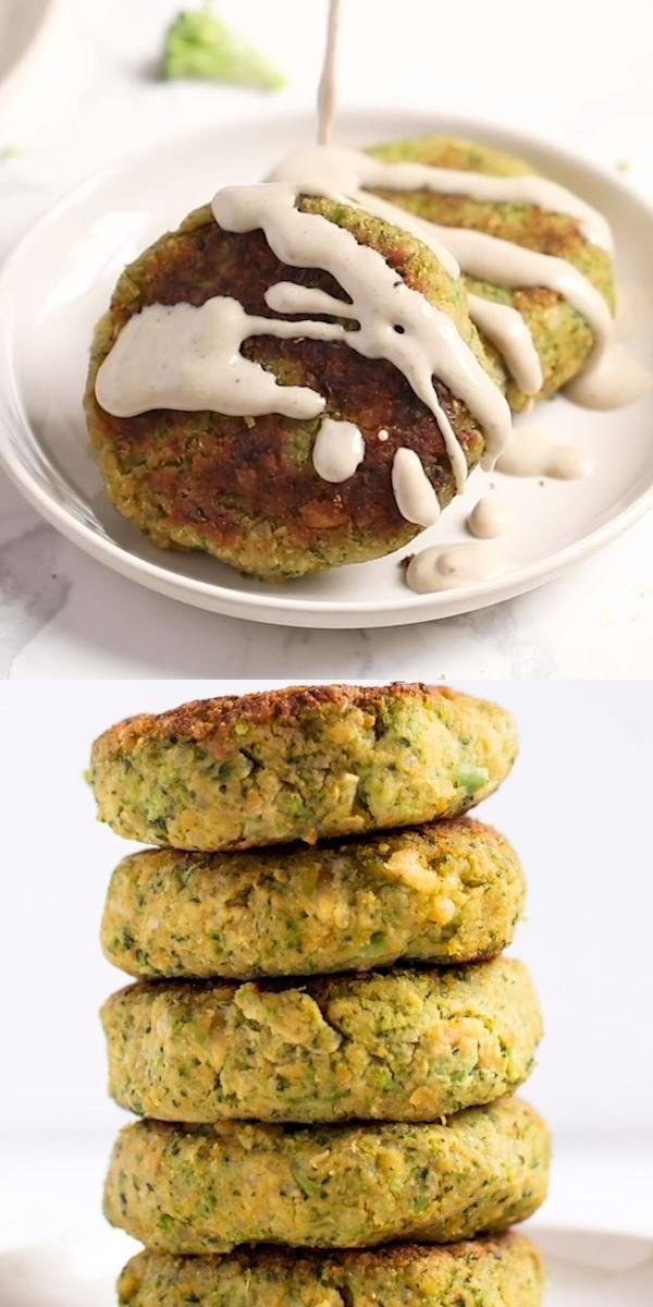Photo of Cheezy Broccoli Quinoa Burgers