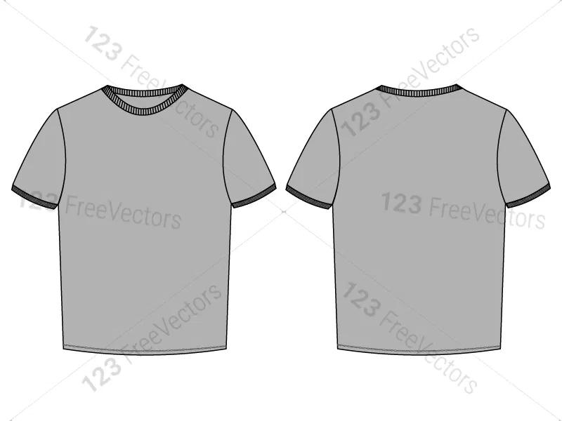 Download Men S Basic T Shirt Template Vector And Psd Pack 01 Shirt Template Shirts T Shirt