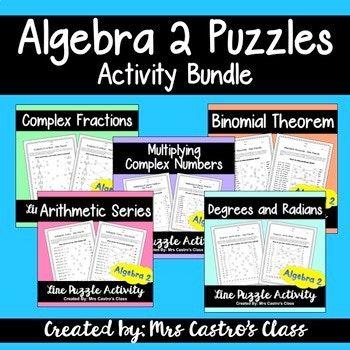 Algebra 2 Puzzle Activities **FLASH | Algebra, Activities and ...