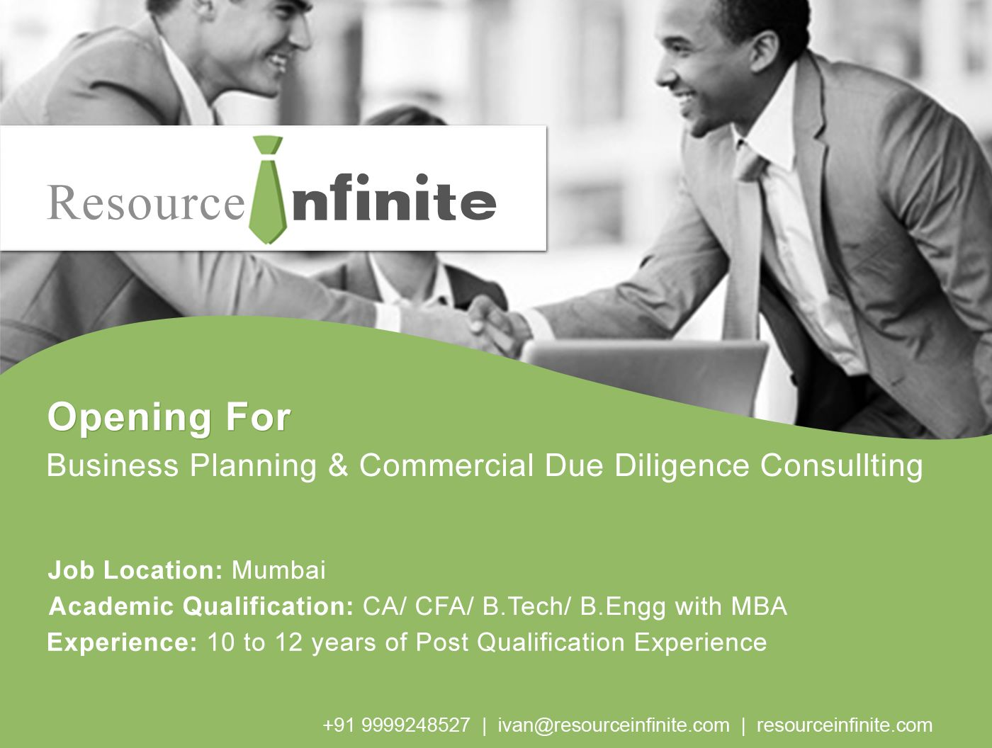 resourceinfinite jobs An established CDD Consultingfirm