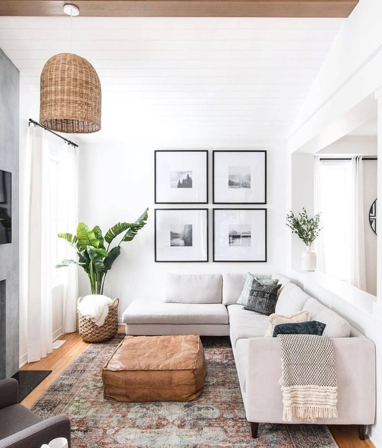 53 Inspirational Living Room Decor Ideas: Love That Plant In The Corner! In 2019