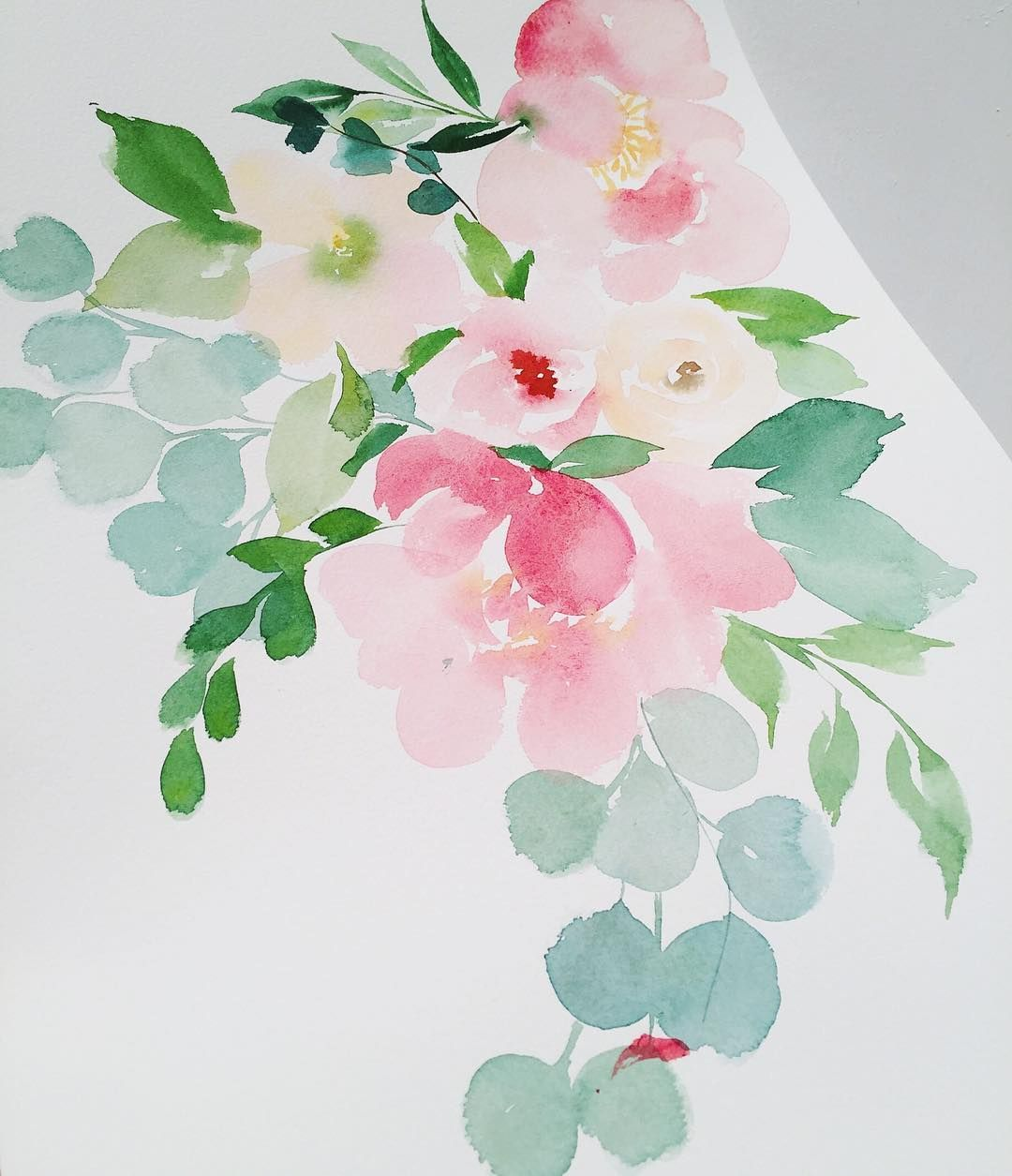Watercolor Flowers And Paint Brushes: When Your Paint Brush Falls Out Of Your Hand And Gets A