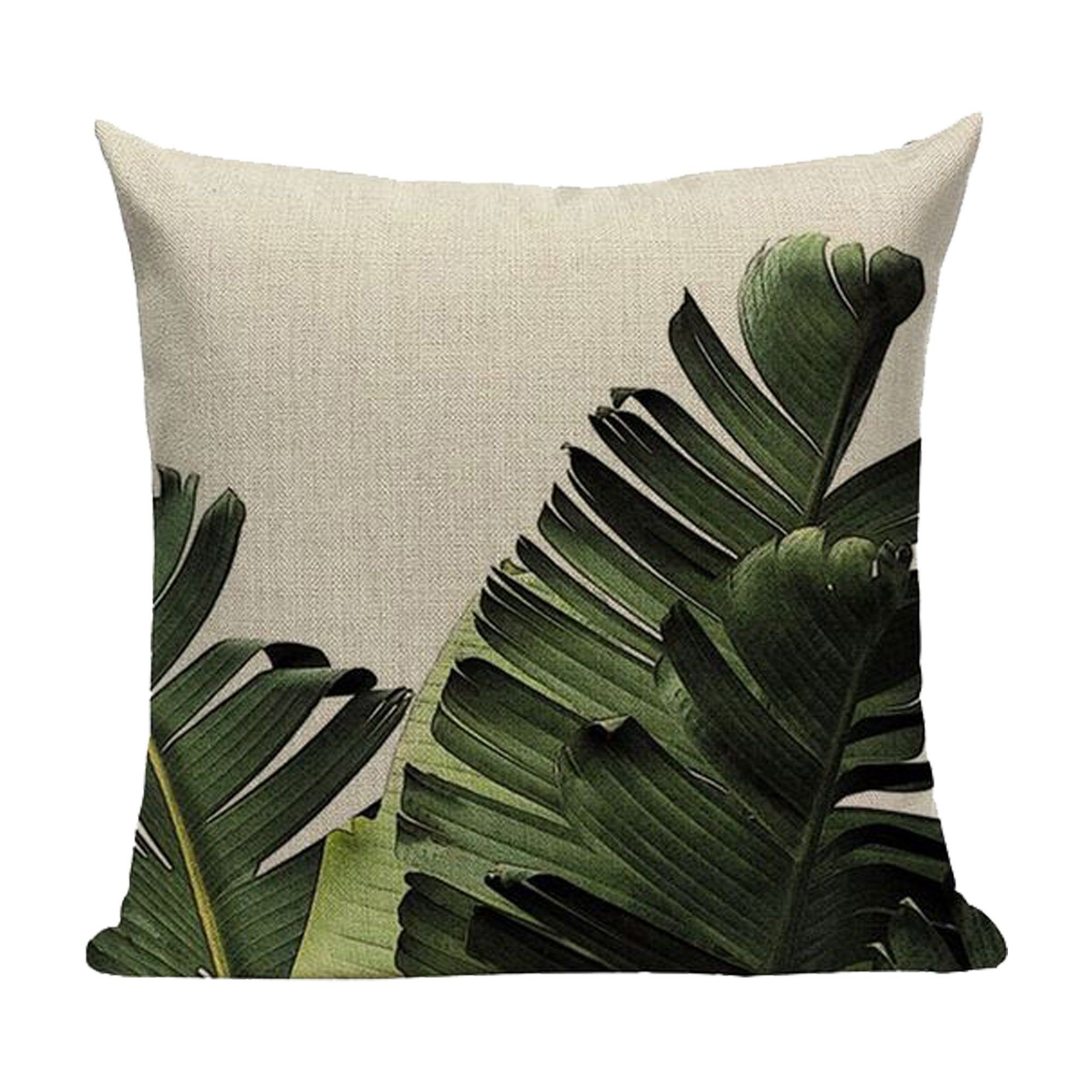 Plant Pattern Patio Cushion Covers Printed on Linen Cotton   Etsy ...