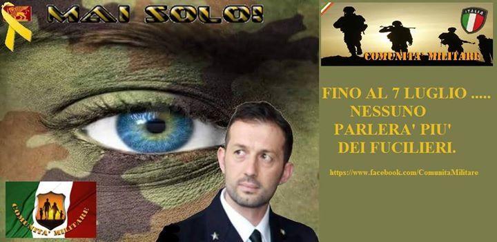 Comunita' Militare ELIO VITO NOI SIAMO QUI ...... SE VUOLE CI PUO' DEGNARE DELLA SUA AMICIZIA E RISPONDERE  ALLE NOSTRE DOMANDE ....... https://www.facebook.com/ComunitaMilitare/photos/a.278676485485723.70220.278661802153858/949599601726738/?type=1&theater