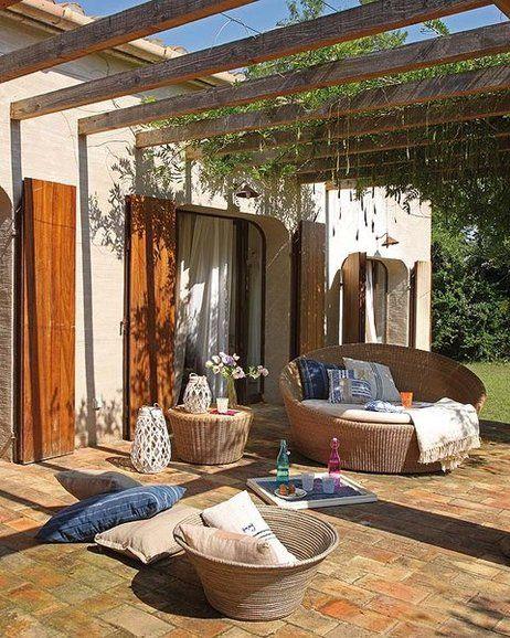 Una casa a campo abierto Casa abierta, Campo y El interior