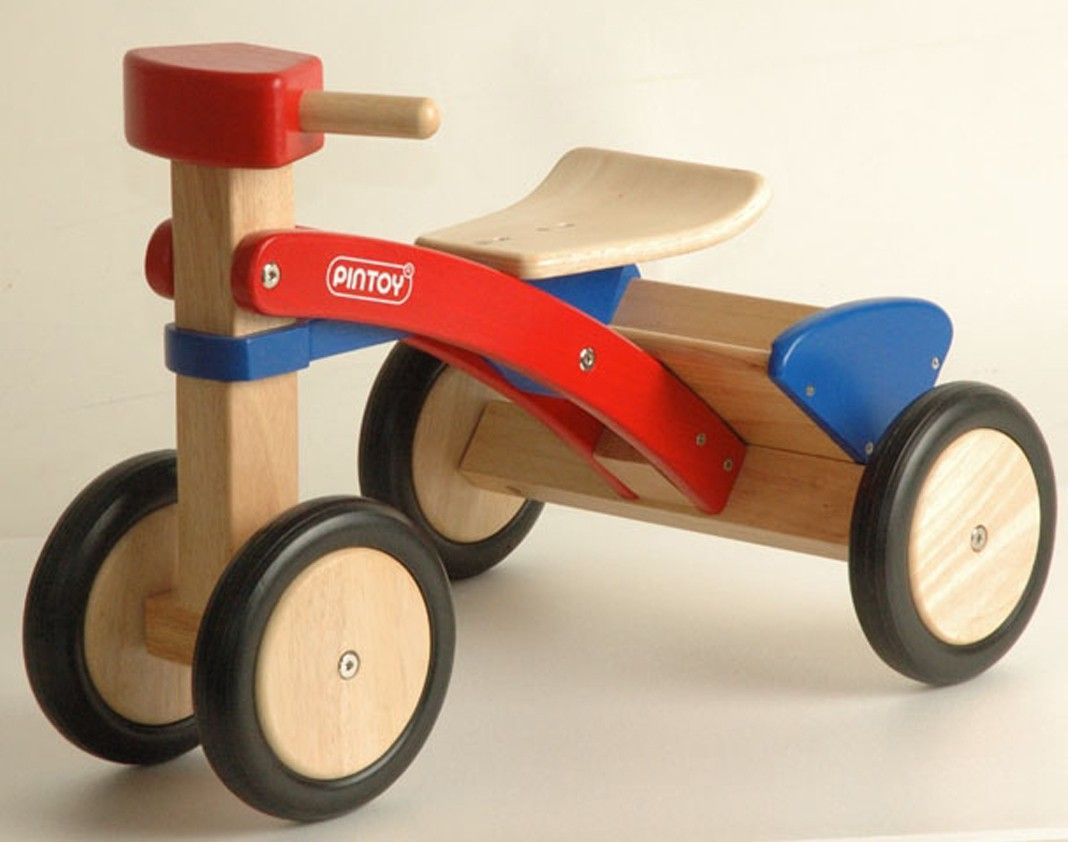 pintoy pick up trike wooden ride on toy spielzeug. Black Bedroom Furniture Sets. Home Design Ideas