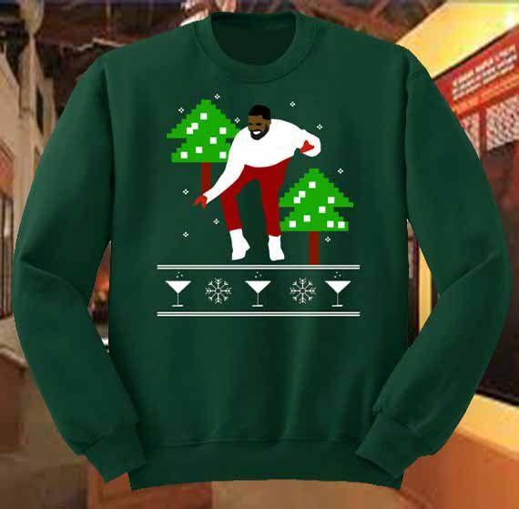 Ugly Drake Christmas Sweater 1-800 Hotline Bling UNISEX ( Green ...