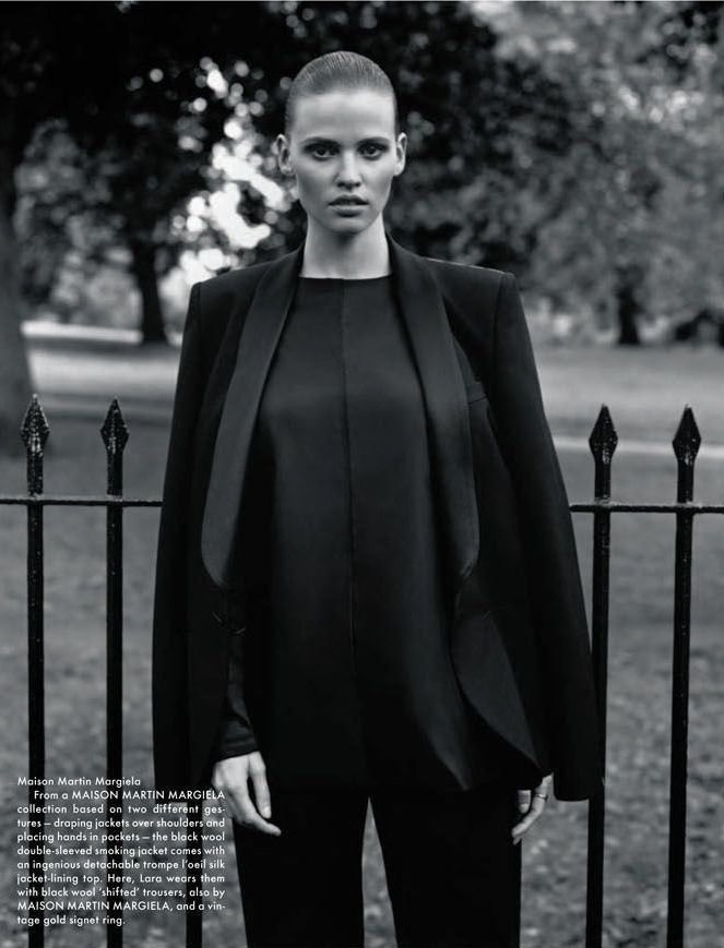 "Lara Stone in ""Autumn"" by Alasdair McLellan for The Gentlewoman Magazine Fall/Winter 2012"