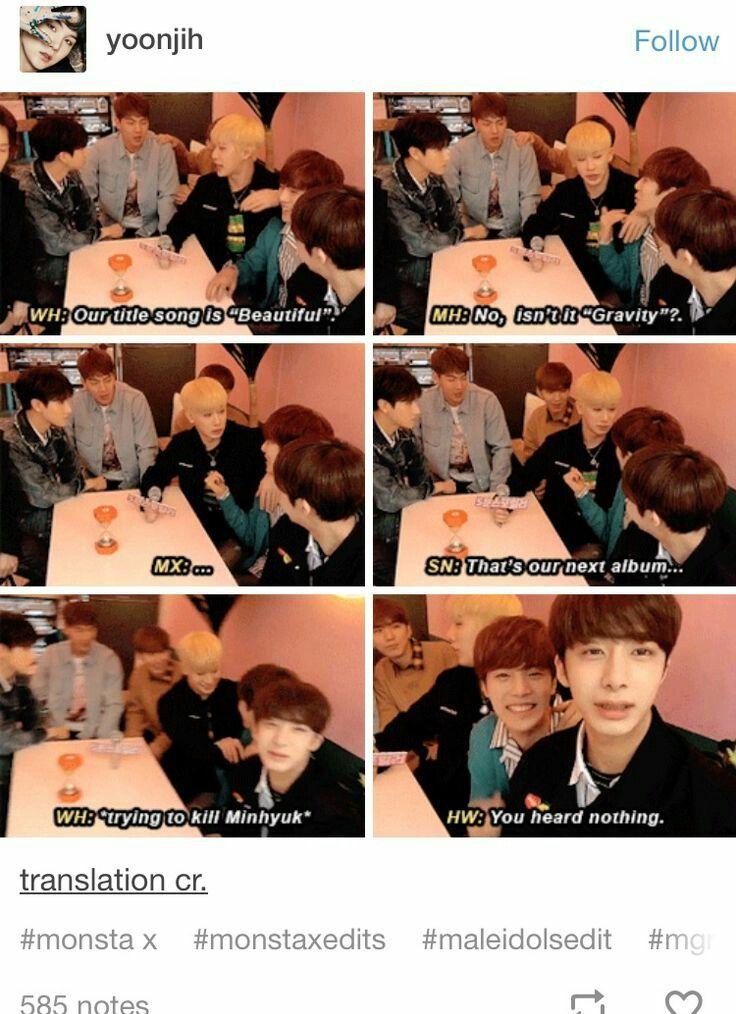 When Will People Learn That Kpop Idols Shouldnt Do Live Chats Monsta X Funny Monsta X Monsta X Wonho