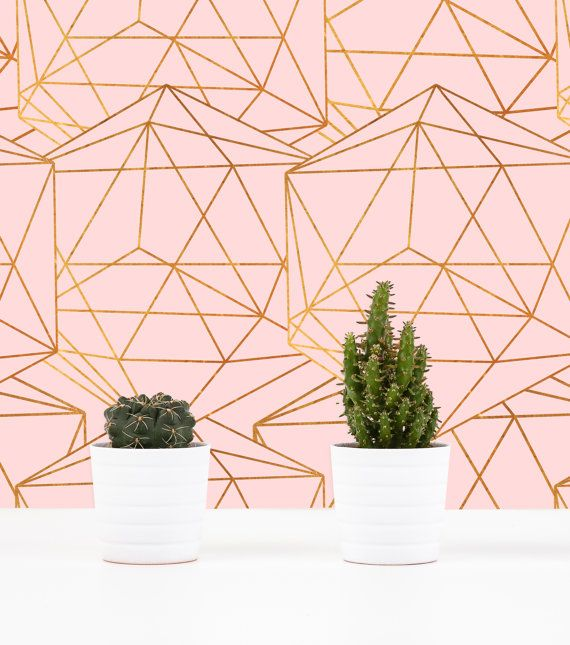 Geometric Glam Wall Covering Art Removable SelfAdhesive