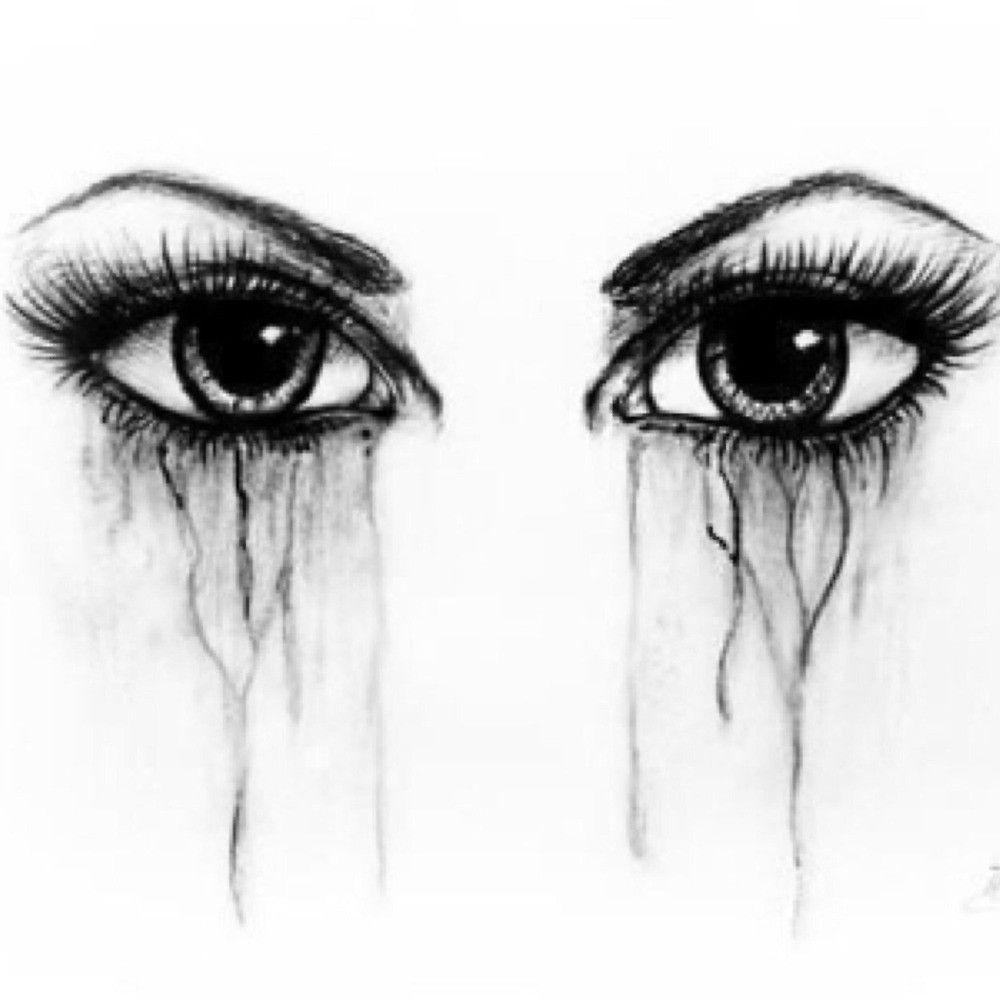 Traurige Augen Gezeichnet